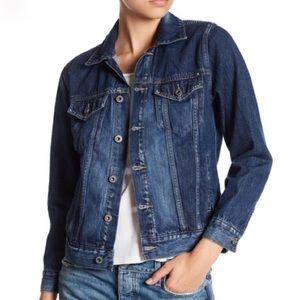 Lucky Brand   Distressed Denim Trucker Jacket